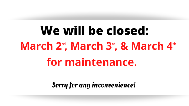 Closed for maintenance (1)