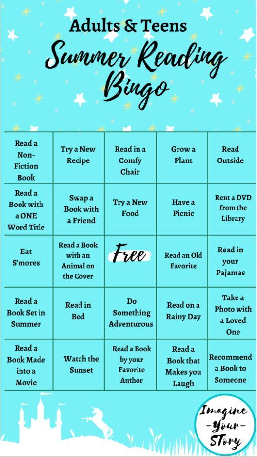 2020 Summer Bingo Card
